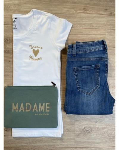 T-shirt BIO femme - coupe loose - Bisous Maman