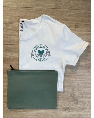 T-shirt BIO - coupe ajustée - Maman unique