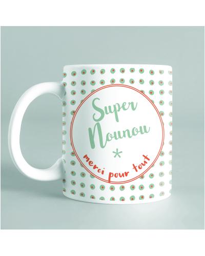"""Mug """"Super nounou"""" rond"""