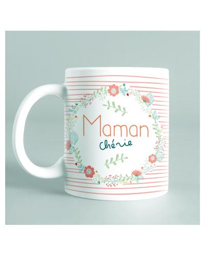 """Mug """"Maman chérie"""" corail"""