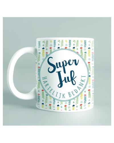 """Mug """"Super Juf"""" vert"""