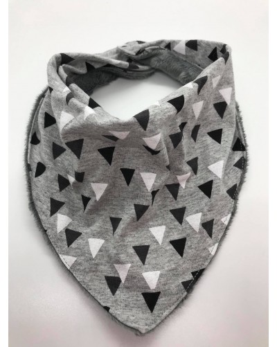 Foulard bébé - triangles gris