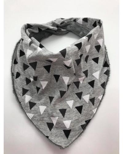 Foulard bébé - triangles gris
