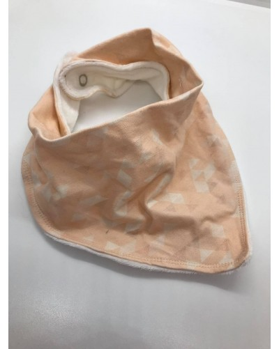 Foulard bébé - Pêche clair formes triangles