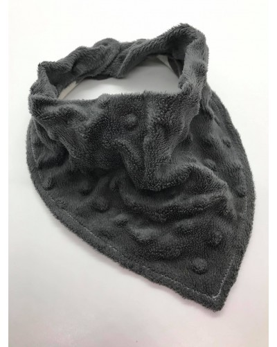 Foulard bébé - Minky gris
