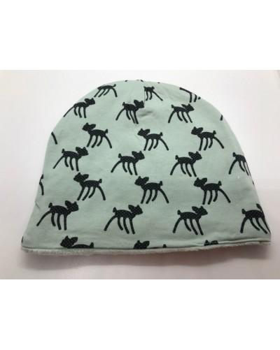 Bonnet - biches bleu/vert d'eau