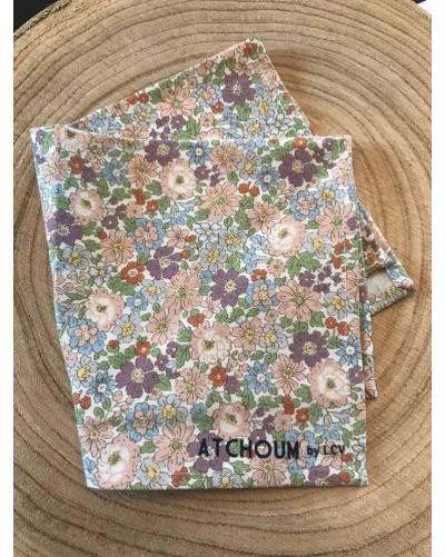 Mouchoir lavable - Fleurs mauves