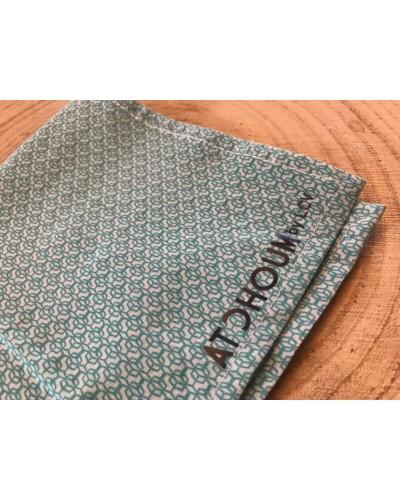 Mouchoir lavable - motifs bleus