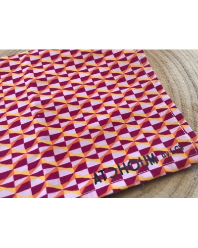 Mouchoir lavable - motifs rose/fushia
