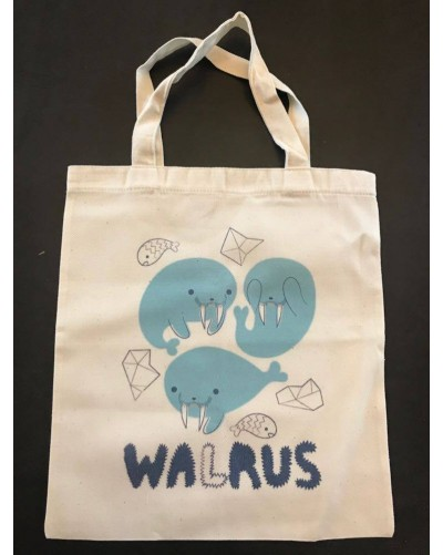 Mini Tote Bag - Walrus