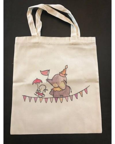 Mini Tote Bag - éléphant fanions