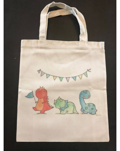 Mini Tote Bag - Dinos