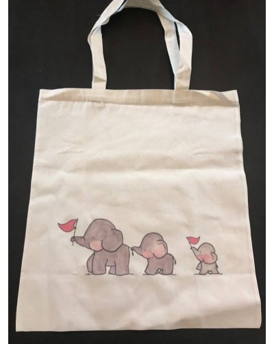 Tote Bag - 3 éléphants