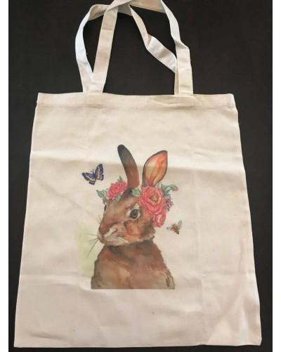 Tote Bag - Lapin Fleurs
